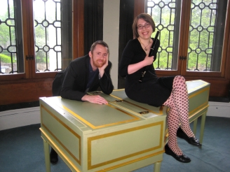 Sitting on Harpsichord